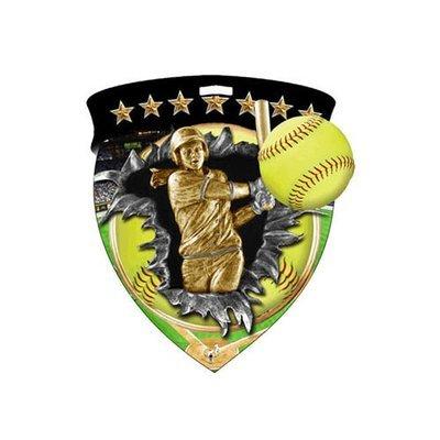 "3"" Softball Shield Medal *Limited Quantities*"