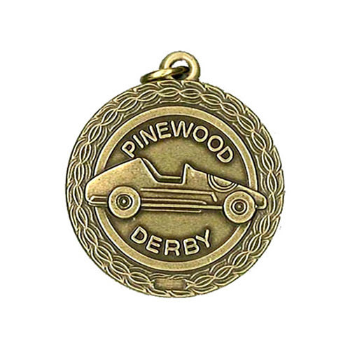 "1.3125"" Pinewood Derby Medal"