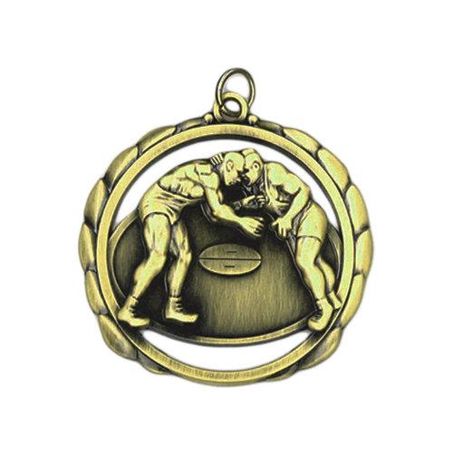 "2.375"" Wrestling Medal"