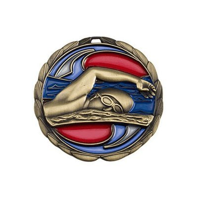 "2.5"" Swimming Medal"