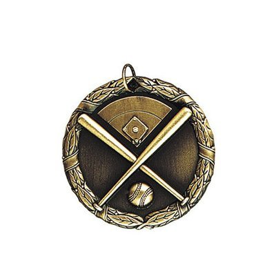 """1.25"""" or 2"""" Baseball Medal"""