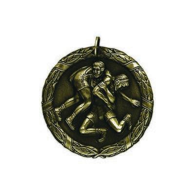 """1.25"""" or 2"""" Wrestling Medal"""