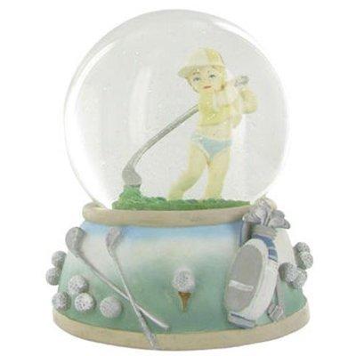 Snow Globe Baby Golfer