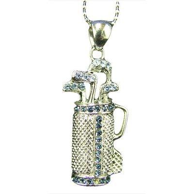 Rhinestone Golf Necklace