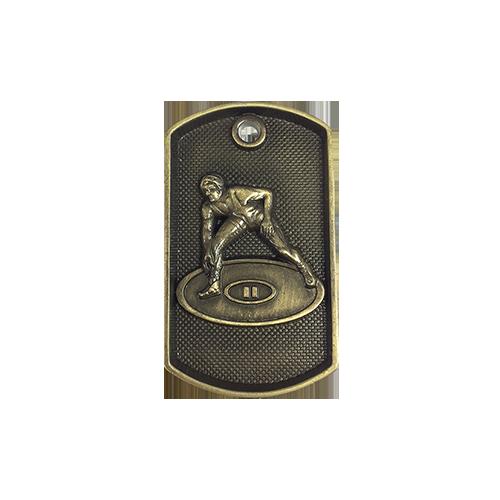 """1""""x2"""" 3D Wrestling Dog Tag Medal"""