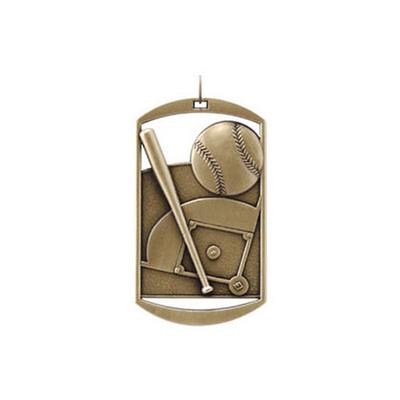 "1""x 2"" Baseball Dog Tag Medal"