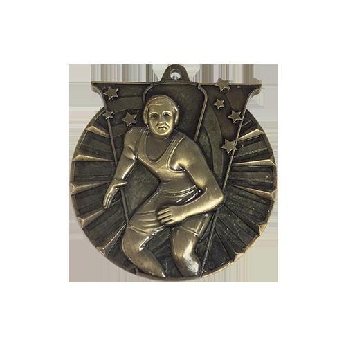 "2"" Wrestling Medal"
