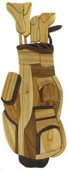 3D Wooden Golf Bag Artwork