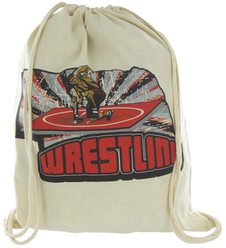Nebraska Wrestling Drawstring Bag