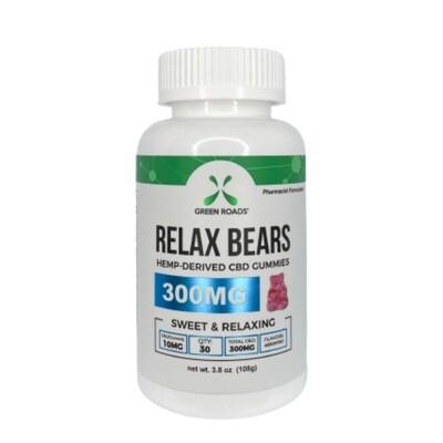 GREEN ROADS 10mg relax bear gummies - 30 count