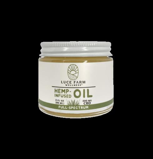 LUCE FARMS hemp infused coconut oil - 500mg