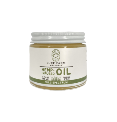 LUCE FARMS infused coconut oil - 500mg