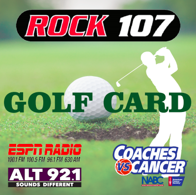 Rock 107 Golf Card