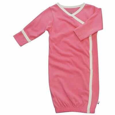 Babysoy Pink Basic Kimono Gown Sleep Sac- Newborn