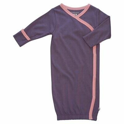 Babysoy Eggplant Basic Kimono Gown Sleep Sac-Newborn