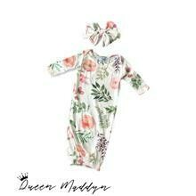 Queen Maddyn Blooming Floral Newborn Gown Set