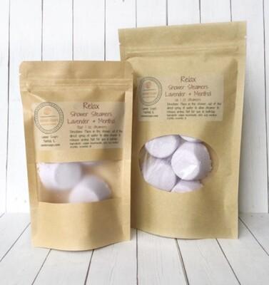 Sammer Soaps Relax Shower Steamers- Lavender & Menthol 4 pack