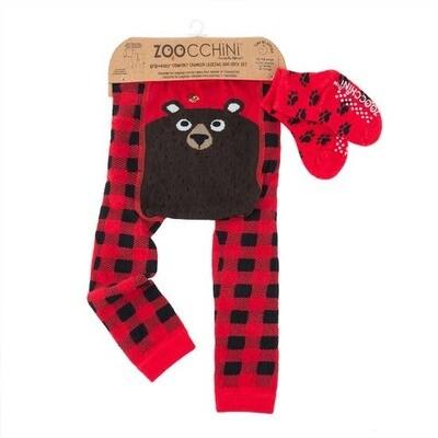 Zoochini Bosley the Bear Legging and Sock Set