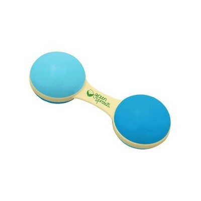 Green Sprouts Dumbell Rattle (made from cornstarch resin)