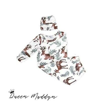 Queen Maddyn Forest Friends Baby Gown