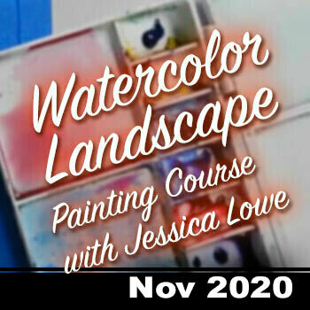 Online Watercolor Landscape Painting Course - NOV 2020