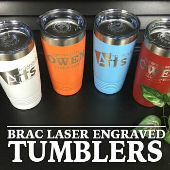 BRAC Laser Engraved 20 oz Steel Tumbler