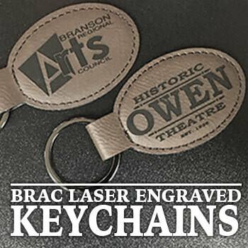 BRAC Laser Engraved Leatherette Keychain
