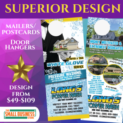 Custom Design (Postcard/Doorhanger/Mailer/Flyer)