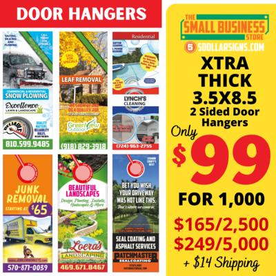 3.5 x 8.5 Door Hangers Cardstock