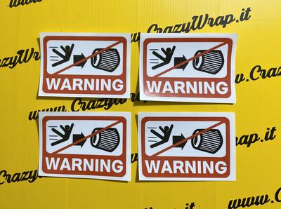 "Sticker ""WARNING ASPIRAZIONE"""