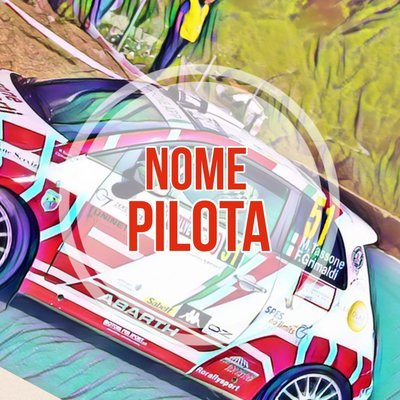 Nome Pilota - Copilota Rally con Bandiera
