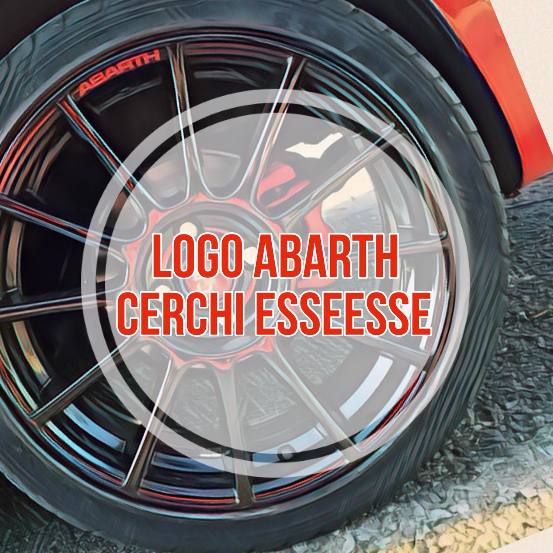 Loghi Abarth per Cerchi Essesse 4pz.