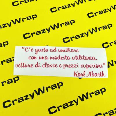 "Sticker ""Citazione Karl Abarth"""