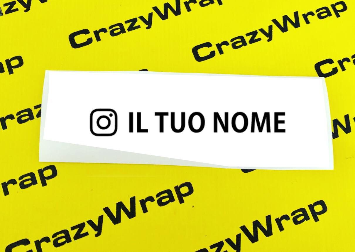 Sticker Instagram Name 2pz.