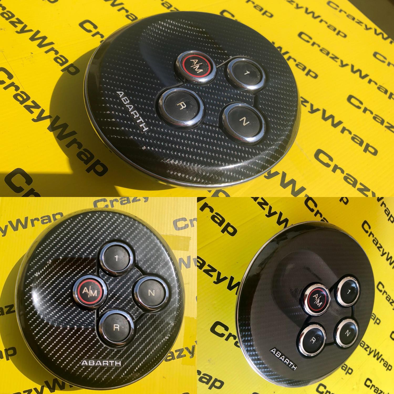Adesivo Cover Cambio MTA in carbonio 5D