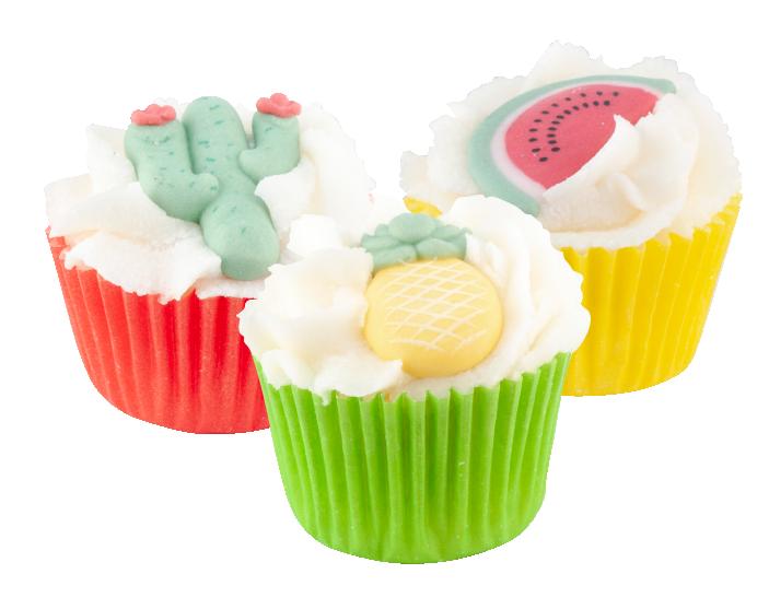 Mini Cupcakes Tropical Summer assortis (24 pieces/units)