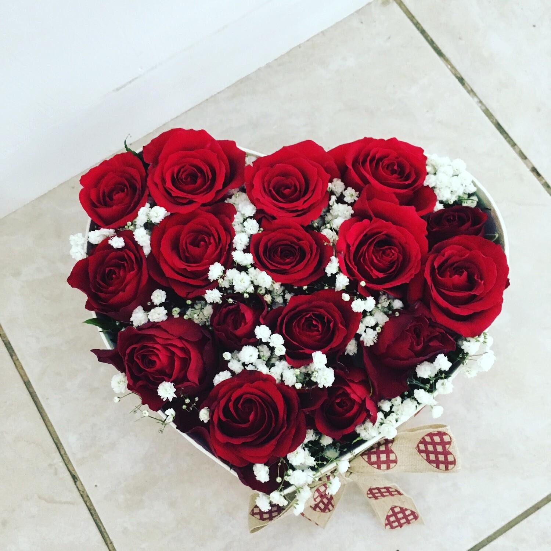 Coração rosas