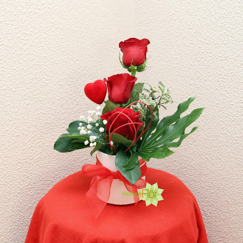 Caixa 3 rosas