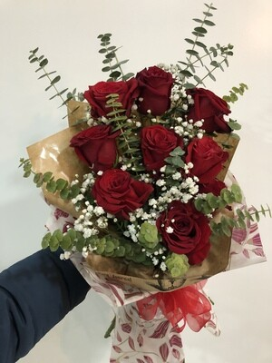 Bouquet vermelho 8 rosas