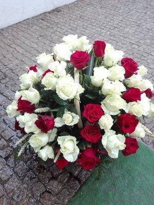 Cesta 80 rosas