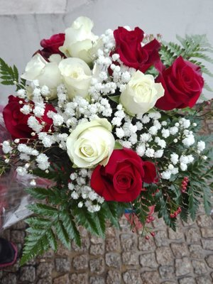 Bouquet vermelho e branco