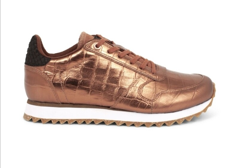 Shiny Copper Sneakers
