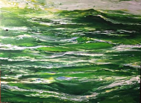 "Spring Thaw - 30"" x 24"" - Canvas Print"
