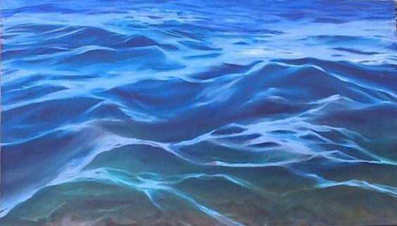"Ocean Water - 4.5"" x 2.5"" - Canvas Print"