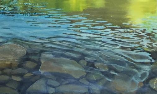 Truckee River - 2.5' x 4' - Canvas Print