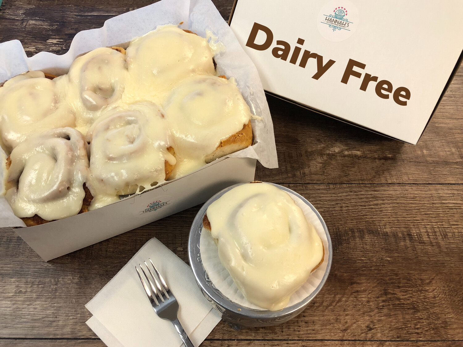 FAMOUS Dairy Free Cinnamon Rolls (6 Pack)