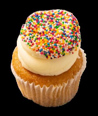 Vanilla Birtday Sprinkle Cupcakes