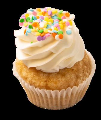 Dairy Free Vanilla Birthday Sprinkle Cupcakes