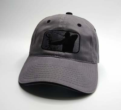 Charcoal/Black Adjustable Hat