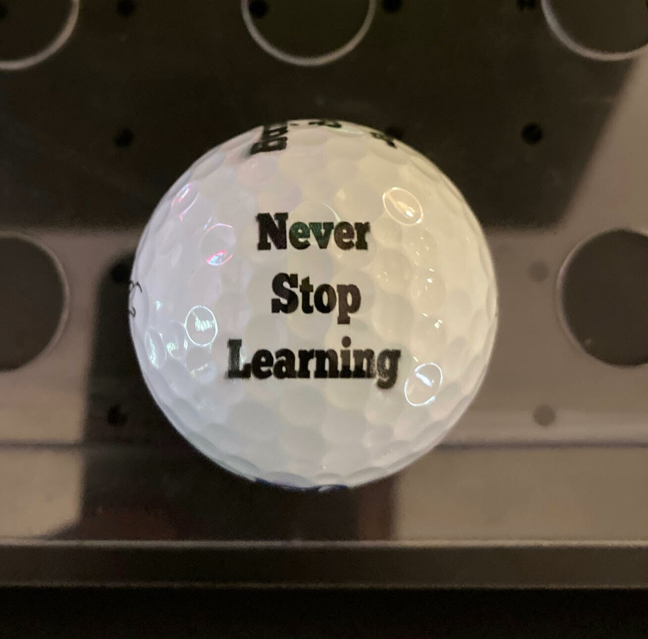 Never Stop Learning Golf Balls
